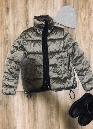 Куртка дутая пуфер пуховик зефир пальто парка