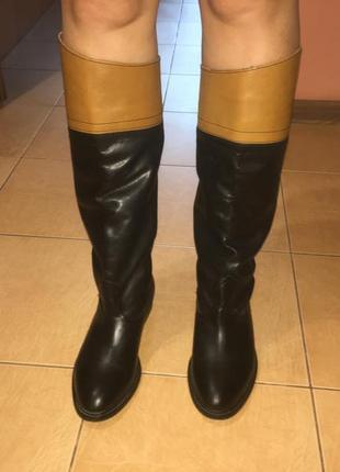 Кожаные сапоги topshop, испания. р-р 38, стелька 25 см