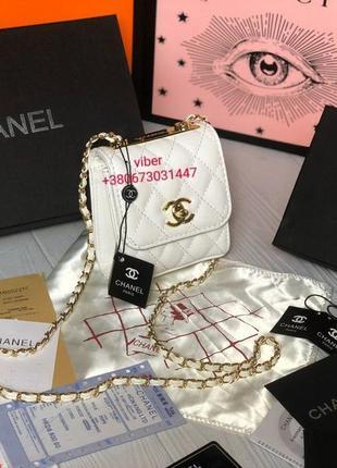 Сумка женская клатч сумочка в стиле шанель chanel белая