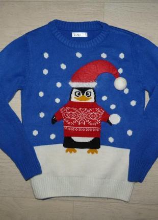 Новогодний свитер m&co 7-8 лет