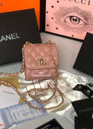 Сумка женская клатч женский сумочка в стиле шанель chanel розовая
