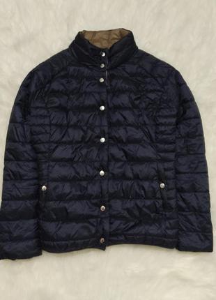 Двусторонняя куртка пуховик микропуховик большого размера