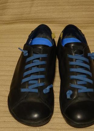 Мягчайшие черные кожаные фирменные туфли camper испания 45 р
