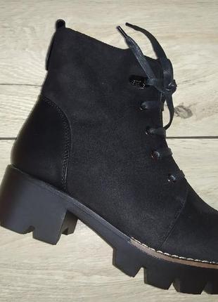 Ботинки зимние женские платформа жіночі полуботинки зима тракторная подошва