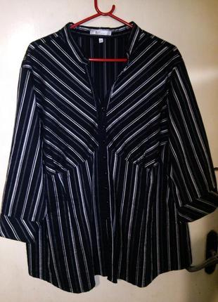 Супер стрейч,стильная блузка на пуговицах, большого 50/54размера, xlnt woman