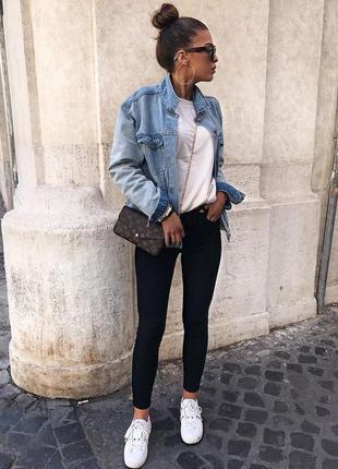 🌿 базовые, черные джинсы скини от h&m