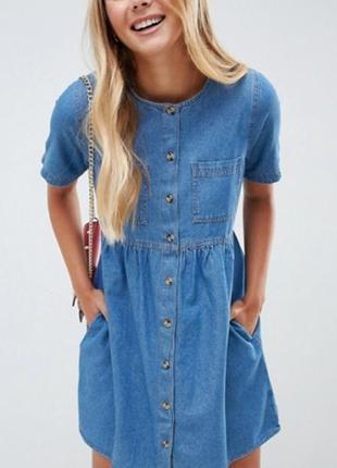 Джинсовое платье 16р asos