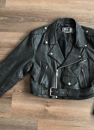 Кожаная косуха  мотокуртка bll  байкерская куртка