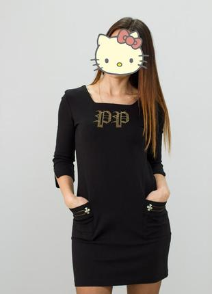 Платье черное philipp plein