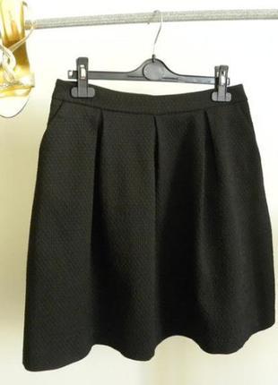 Модная пышная юбка колокол с карманами под пояс
