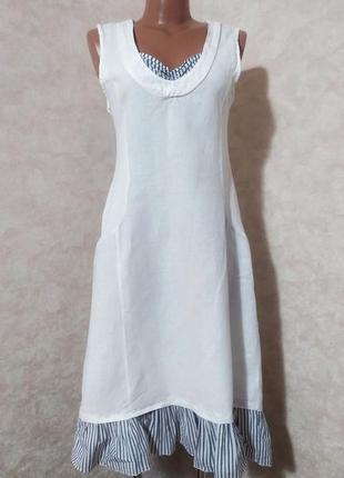 Льняное платье оверсайз, m-l