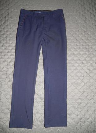 Мужские брюки темно-синие утепленные