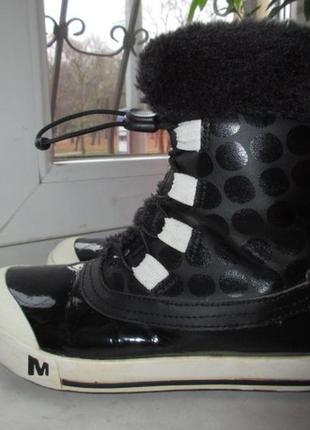 Зимние кожаные ботинки merrell 35 р