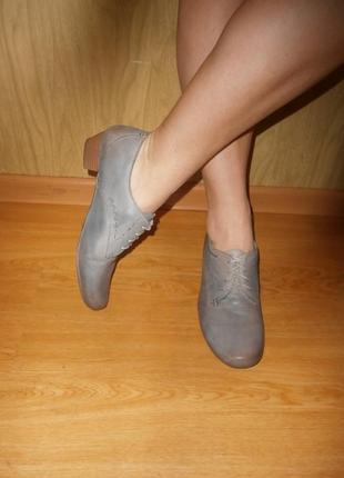 Удобные/легкие ботиночки/нат.кожа/27 см/низкий ход/marc art of walking
