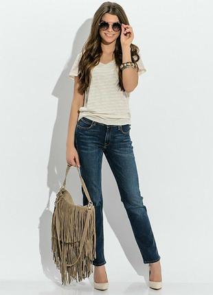 Синие джинсы прямого кроя/штаны/брюки
