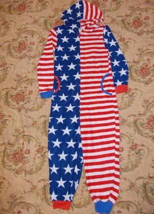 Пижама кигуруми слип человечек на 9-10 лет рост 134-140 см