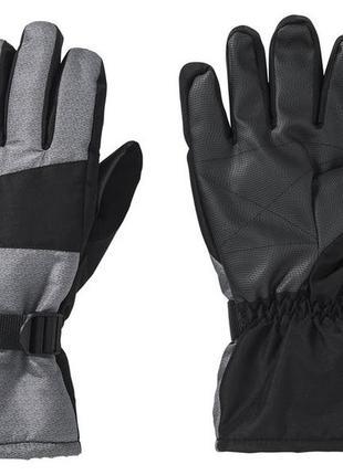 Лыжные мужские crivit зимние термо перчатки краги водонепроницаемые р 8,5 9