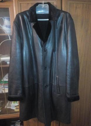 Пальто кожаное prodi на натуральном меху