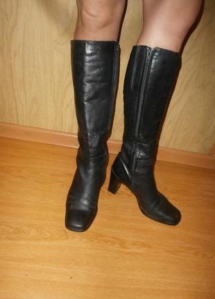Высокие сапоги/нат.кожа/25,5 -26 см
