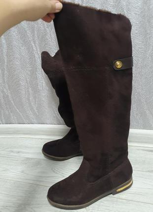 Замшеві чобітки, чоботи зимние замш. ботфорты
