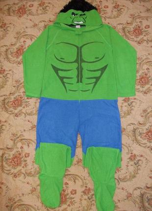 Пижама комбинезон слип человечек халк на 11-12 лет рост 146-152 см