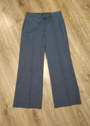 Armani тонкие брюки серо голубые прямые