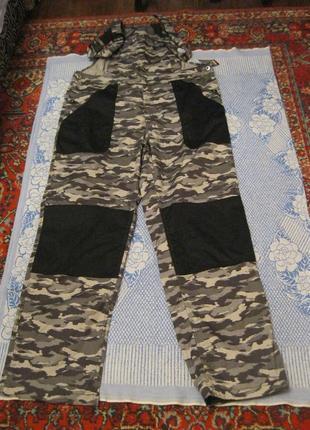 Батал-плотный полукомбинезон камуфляж