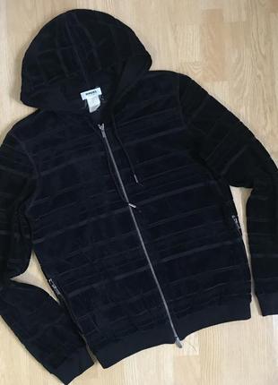 Rykiel velour hoodie велюровая кофта с капюшоном на замке франция