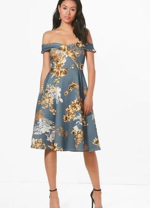 Цветочное платье  миди купить цена