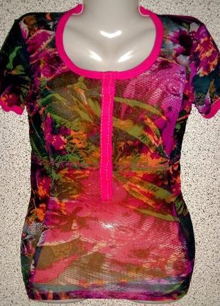 Брендовая яркая блузка от marc aurel.оригинал