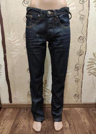 Skinny мужские тёмно-синие джинсы 32/32