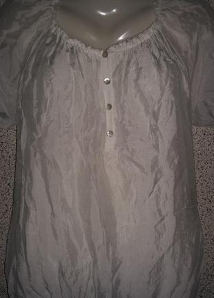 Шелковая блузка туника .италия