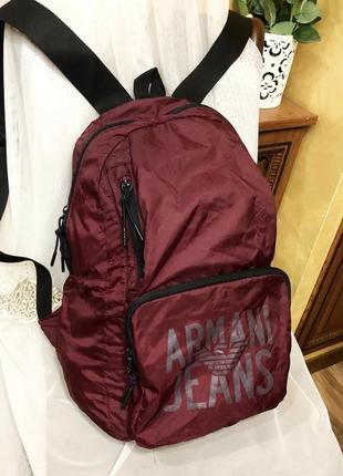 Объемный рюкзак armani (оригинал)