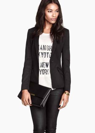 Актуальный приталенный пиджак h&m (огромный выбор пиджаков)