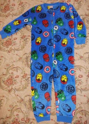 Пижама кигуруми слип человечек на 6-7 лет рост 116-122 см