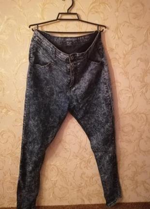Супер узкие джинсы с завышеной талией