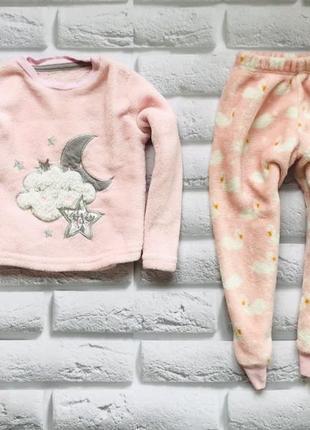 Matalan классная теплая махровая пижама на девочку  3-4 года