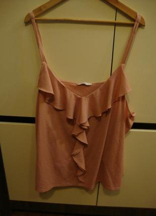 Топ, блуза с рюшами george, цвет пудра