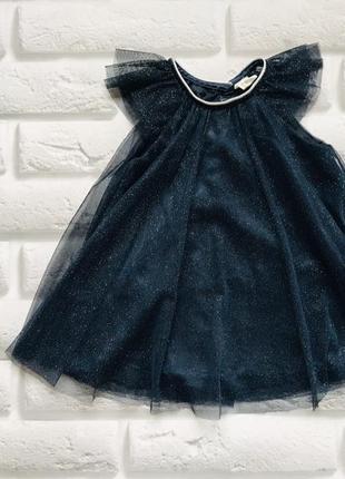 H&m  стильное платье на девочку 9-12 мес