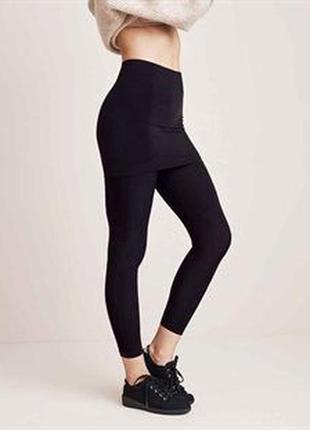 Плотные обтягивающие лосины юбка 3 в 1 американского бренда avon, xl, оригинал