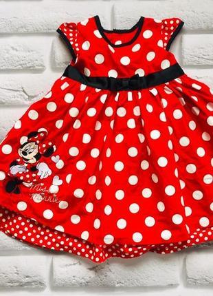 Disney   стильное платье на девочку  12-18 мес