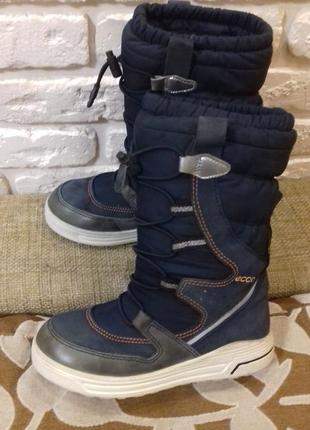 Зимние ботинки ecco с gore-tex размер 30 (ст. 19.5 см). отличные