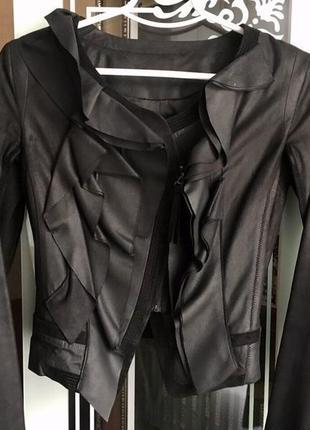 Кожаная куртка class roberto cavalli оригинал