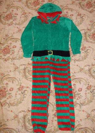 Пижама кигуруми слип человечек эльф на 5-6 лет рост 110-116 см