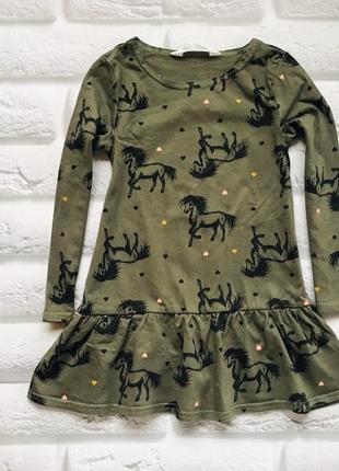H&m стильное платье на девочку 2-4 года
