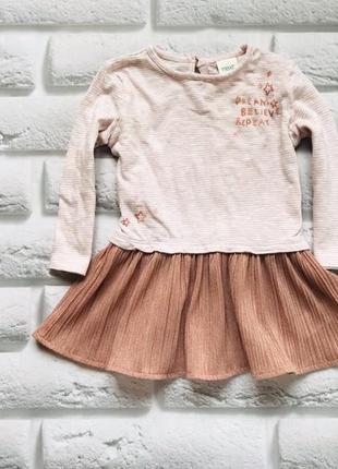 Next   стильное платье на девочку  6-9 мес