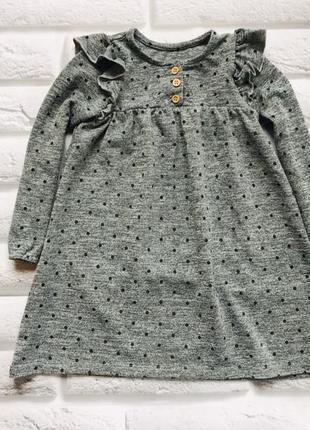 Mothercare стильное  теплое платье на девочку  3-4 года