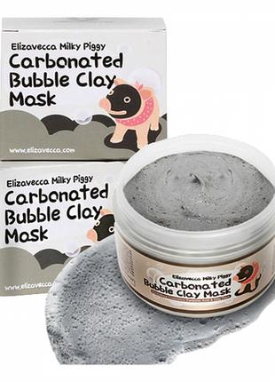 Глубоко очищающая кислородная маска elizavecca carbonated bubble clay mask (корея)