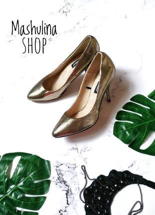 Красивые и стильные туфельки с позолотой от atmosphere