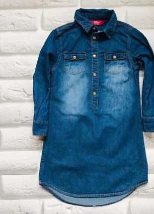 Young dimension  стильное джинсовое платье на девочку 3-4 года